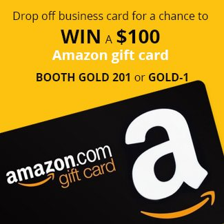 Drop by Booth Gold 201 or Gold-1 and you could win $100 AMAZON GIFT CARD!!