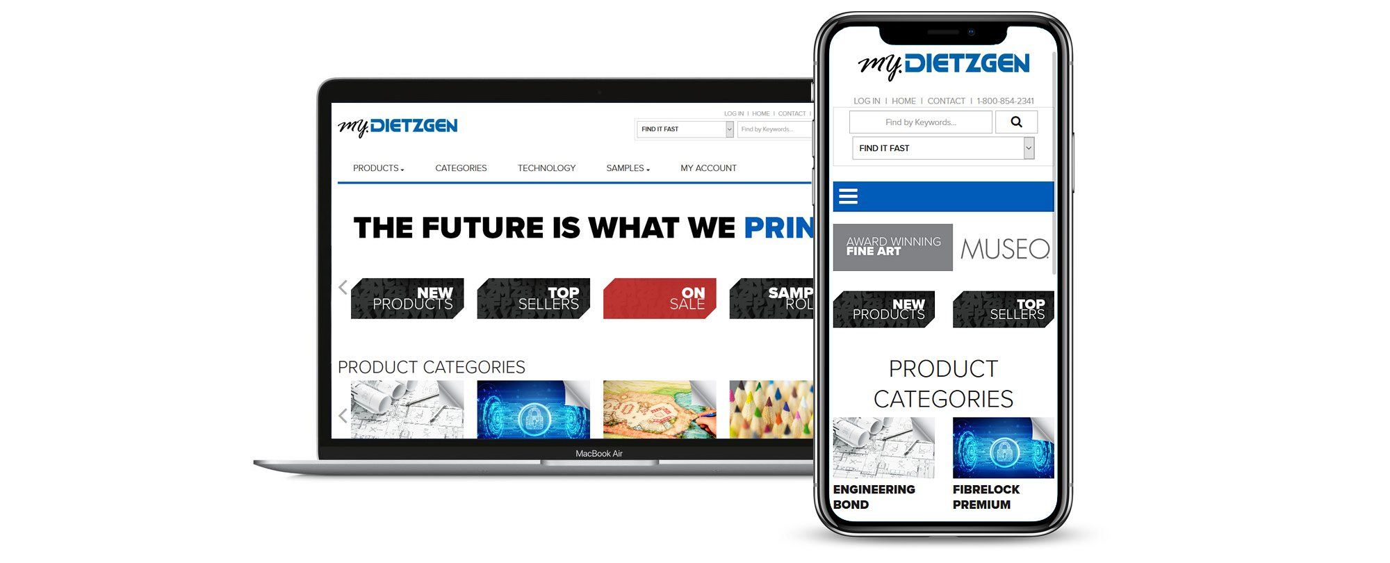 Dietzgen website on devices
